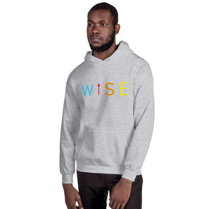 Colorful WISE UP Men's Hooded Sweatshirt-THE WISE VISIONS