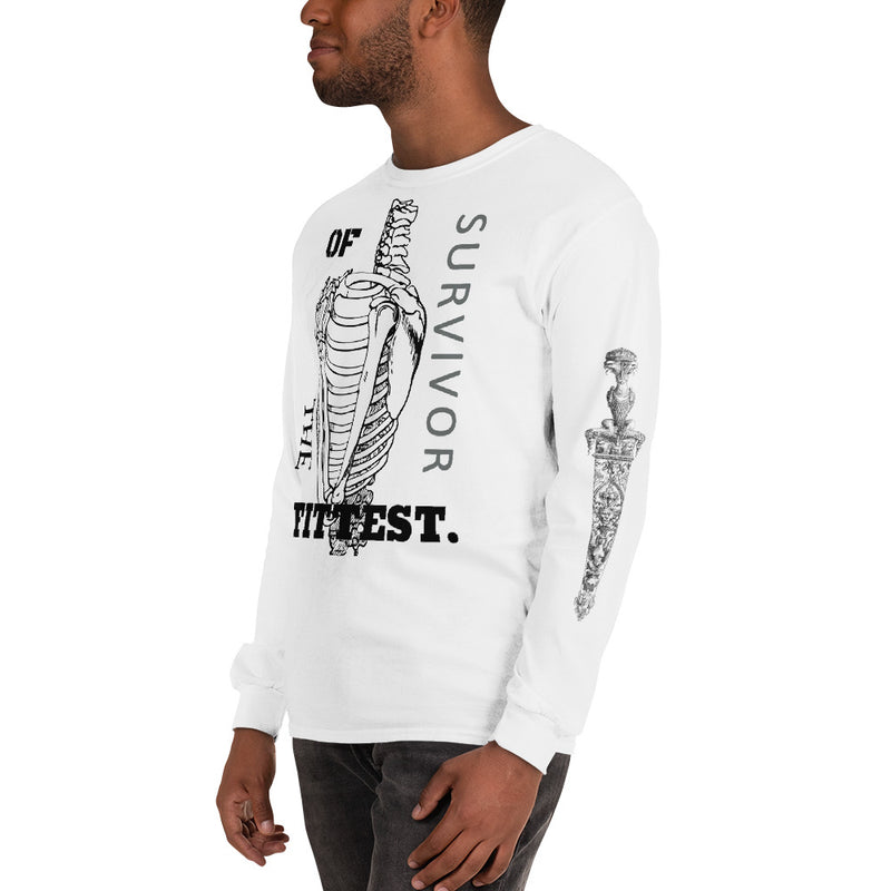 The Fittest Men's Long Sleeve T-Shirt-THE WISE VISIONS