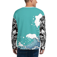 Light Blue WI$E Culture Sweatshirt-THE WISE VISIONS