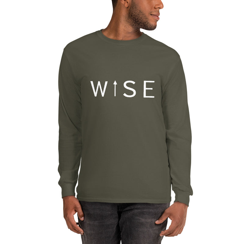 WISE UP Alt. Men's Long Sleeve T-Shirt-THE WISE VISIONS