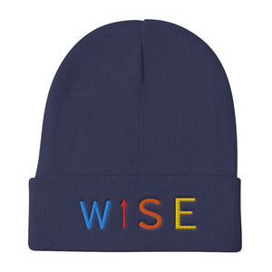 Colorful WISE UP Cuffed Beanie-THE WISE VISIONS