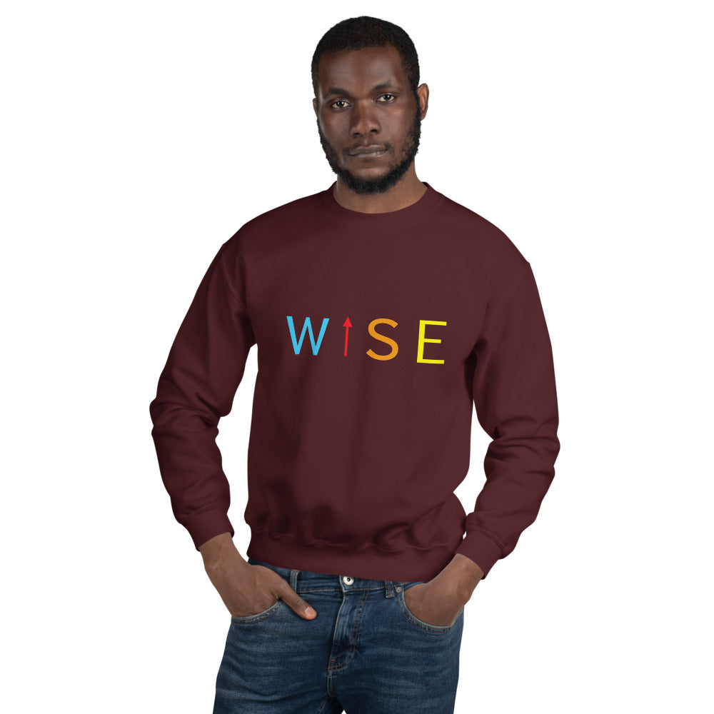 Colorful WISE UP Men's Sweatshirt-THE WISE VISIONS