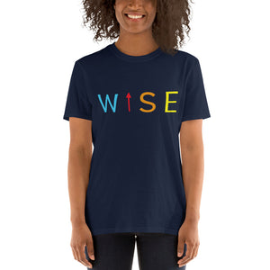Colorful WISE UP Women's Classic Fit T-Shirt-THE WISE VISIONS