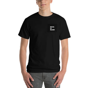Real Is Rare Men's Classic Fit Short-Sleeve T-Shirt-THE WISE VISIONS