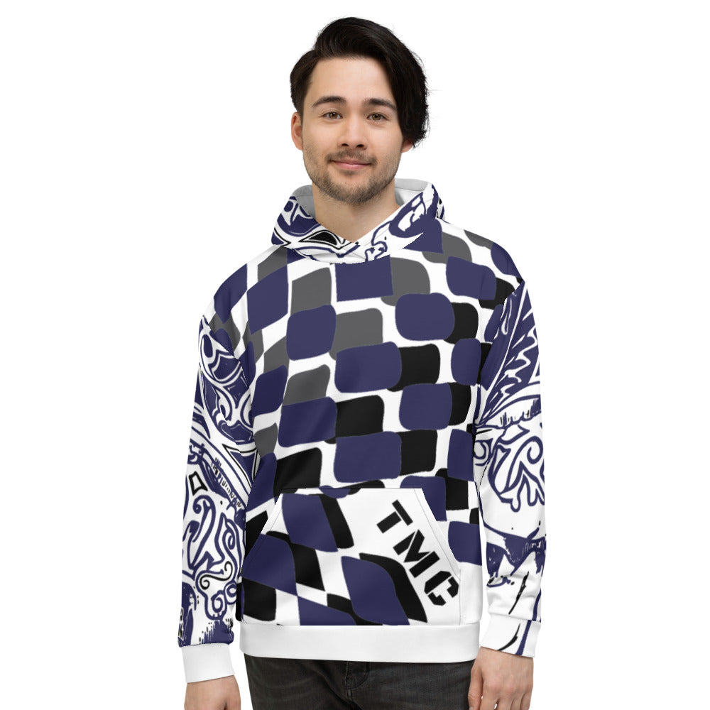 Blue Flagship Men's Premium Hoodie-THE WISE VISIONS