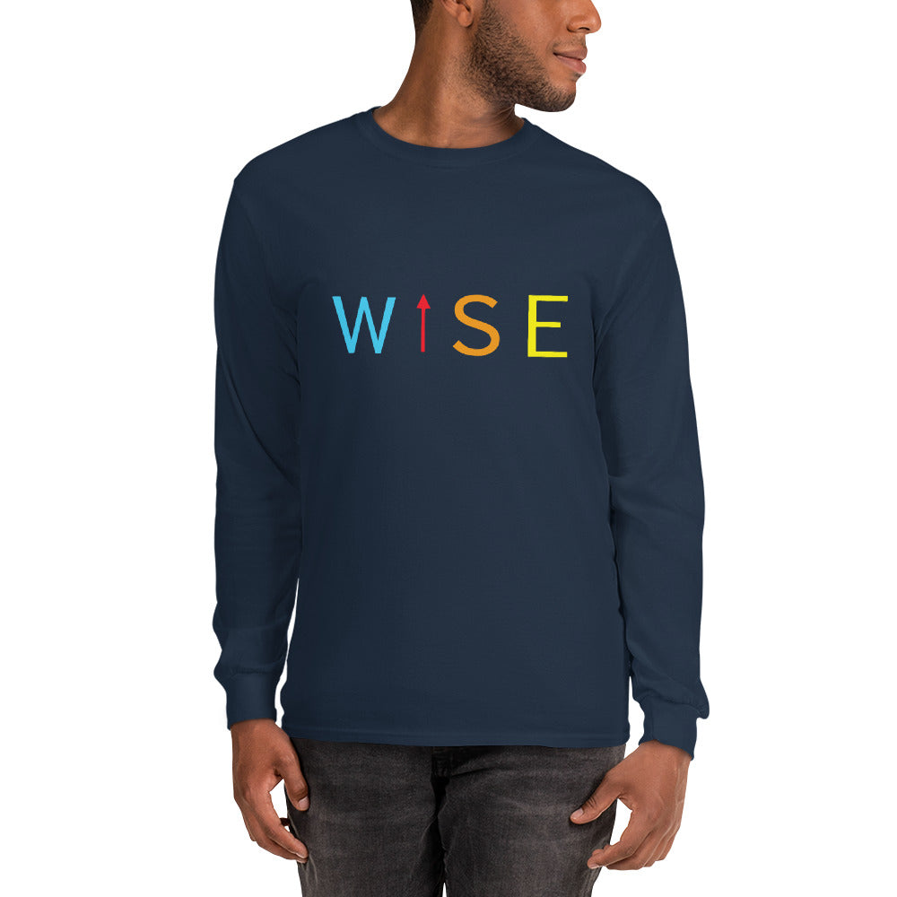 Colorful WISE UP Men's Long Sleeve T-Shirt-THE WISE VISIONS