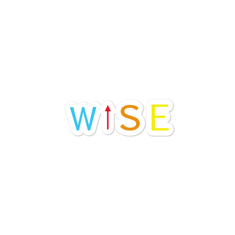 Colorful WISE UP Bubble-Free Stickers