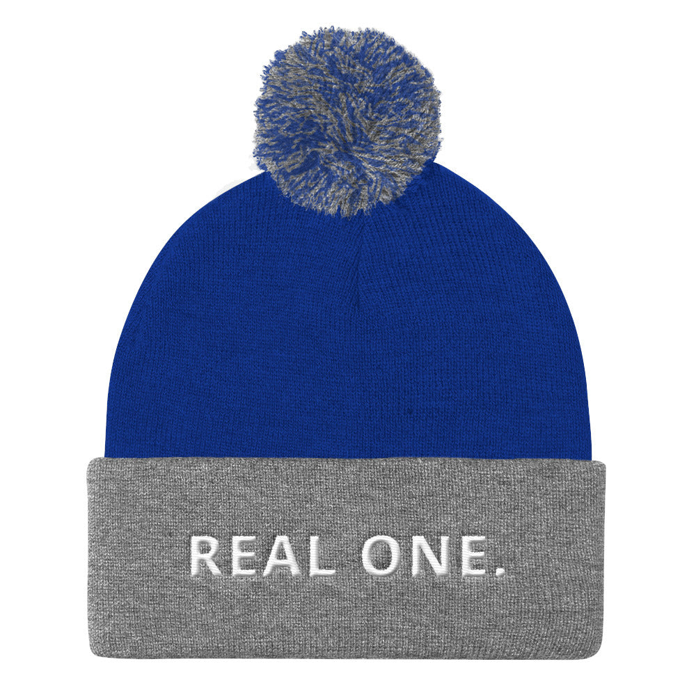 REAL ONE Pom Pom Knit Cap-THE WISE VISIONS