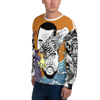 Dark Orange WI$E Culture Men's Sweatshirt-THE WISE VISIONS