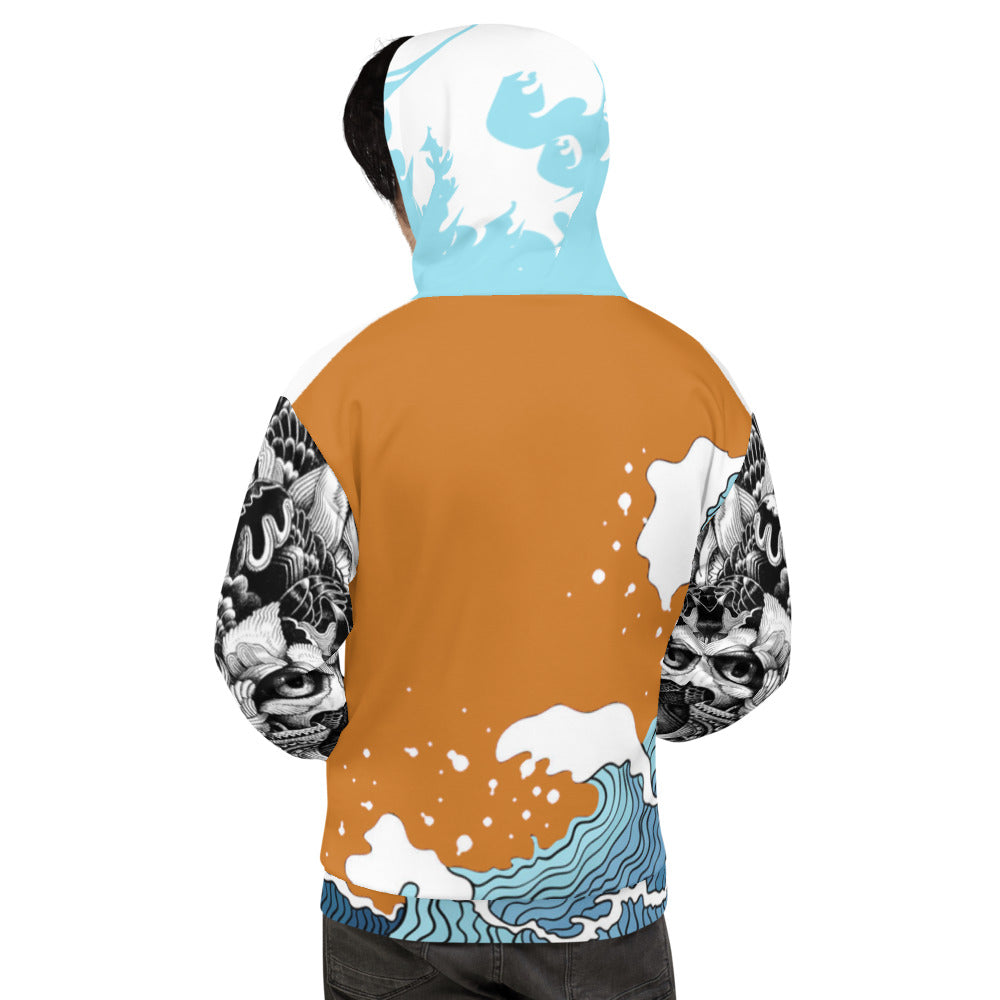 Dark Orange WI$E Culture Men's Premium Hoodie-THE WISE VISIONS