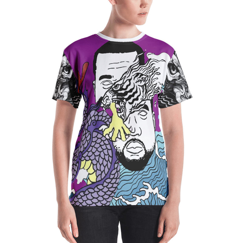 Purple WI$E Culture Women's Classic Fit T-shirt-THE WISE VISIONS