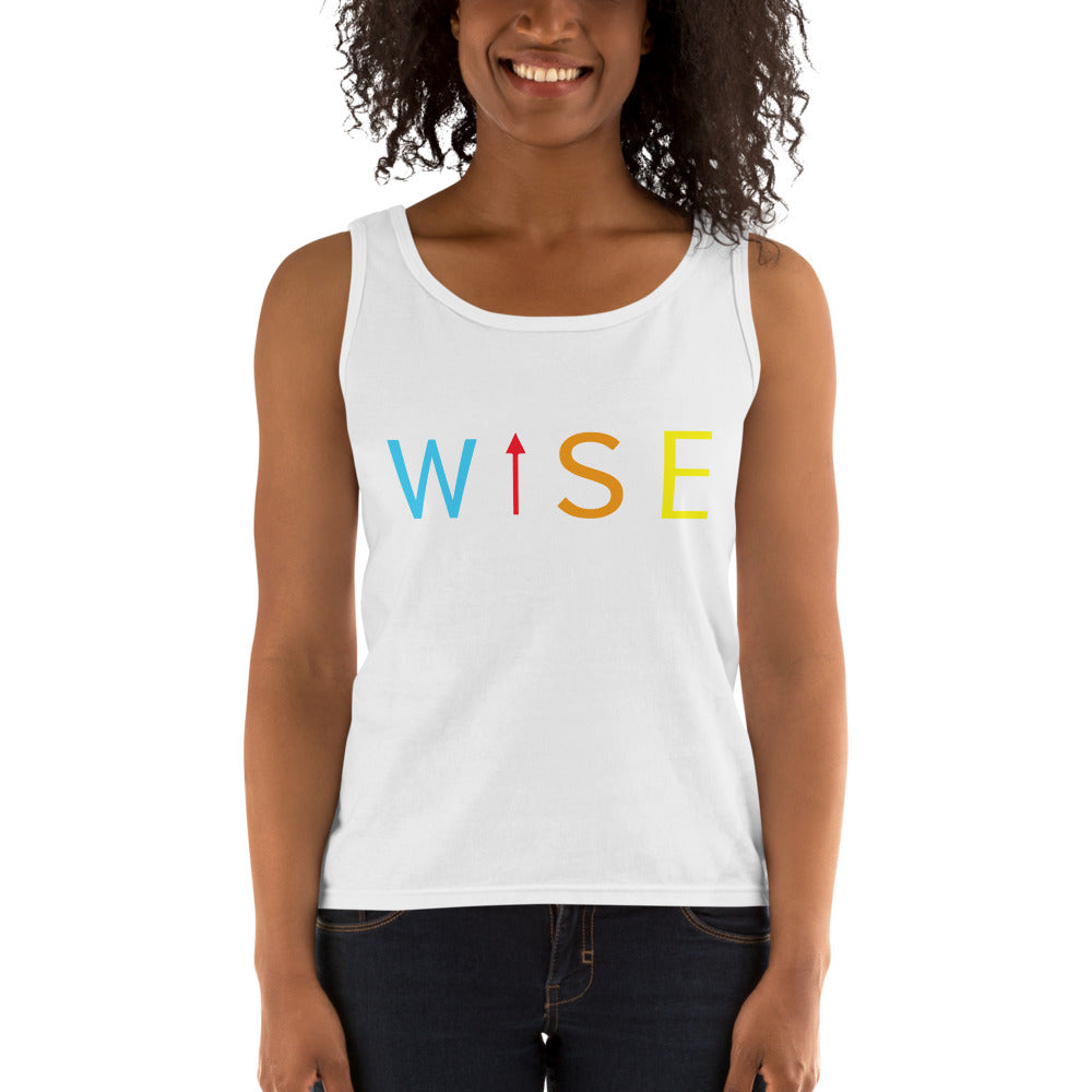 Colorful WISE UP Women's Tank-THE WISE VISIONS
