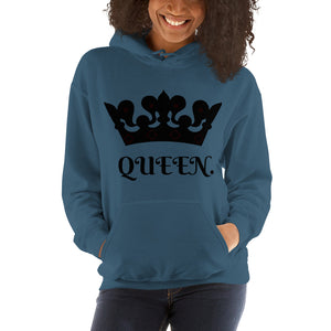 QUEEN Women's Hooded Sweatshirt-THE WISE VISIONS