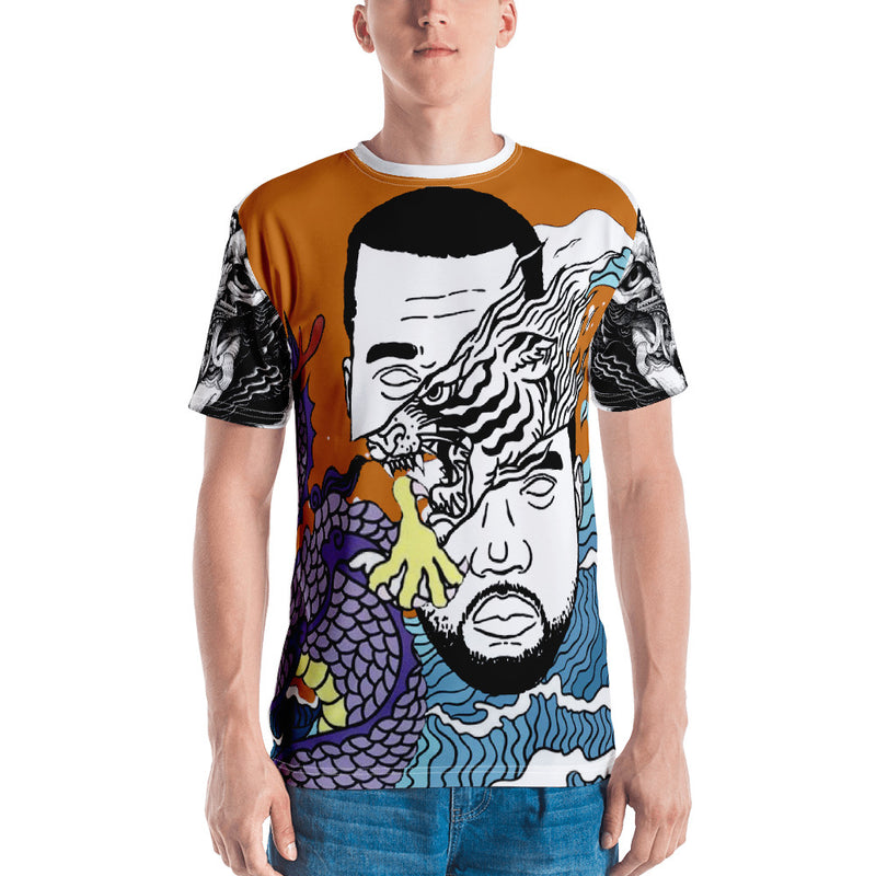 Dark Orange WI$E Culture Men's T-shirt-THE WISE VISIONS
