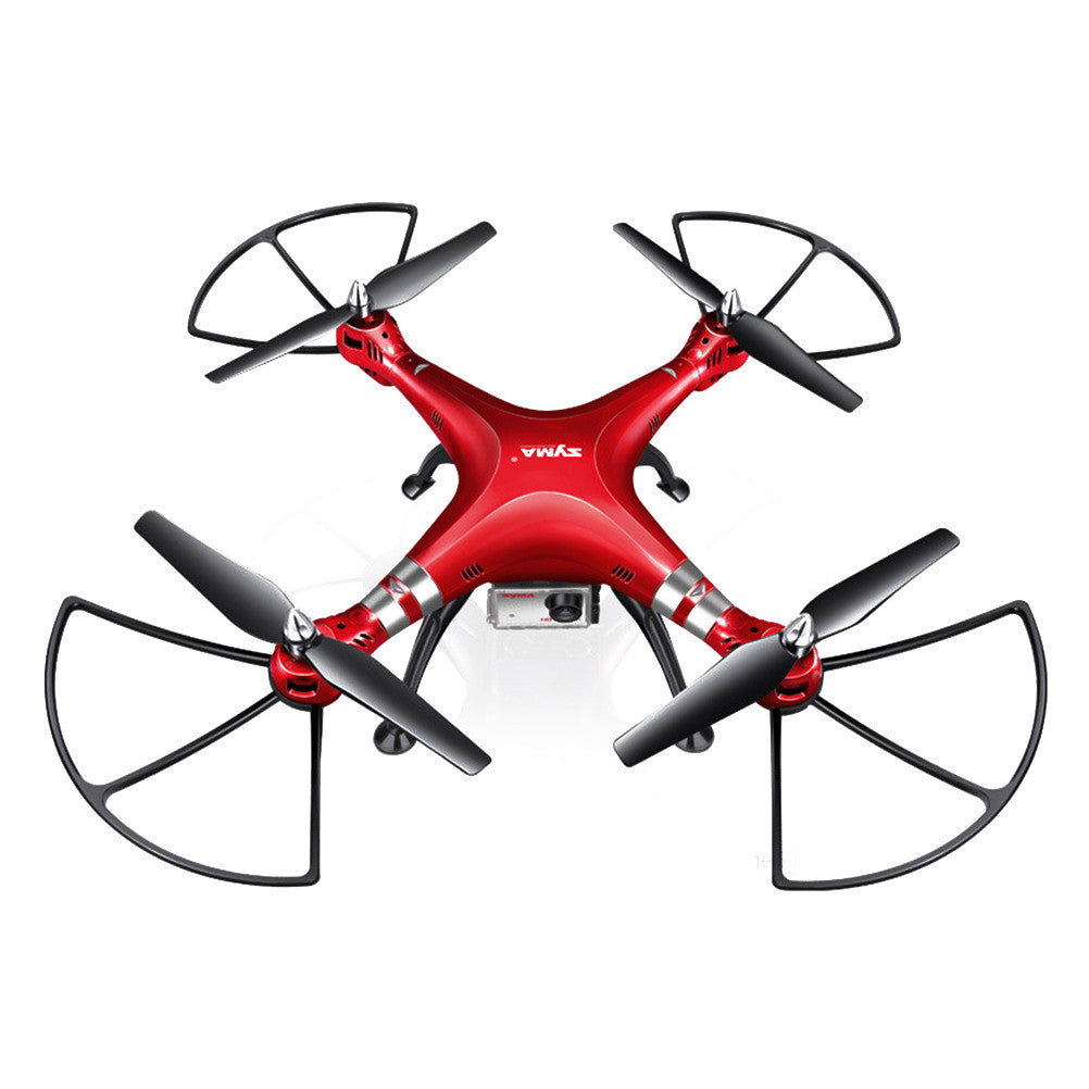 X8HG RC Quadcopter Drone 2.4G 4 Channel 6 Axis Gyro Camera Quadcopter with 8MP 1080P HD Camera Drone and High Hold Mode EU Plug (Red)