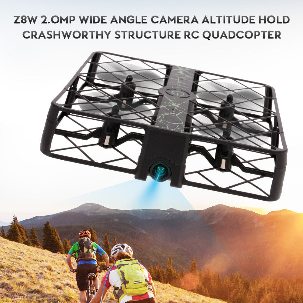 Z8W 2.0MP Wide Angle Camera Crashworthy Structure Altitude Hold RC Quadcopter Drone
