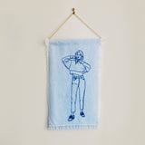 dearest-q - Denim Wall Hanging 1 - Dearest Q - Hand embroidered art