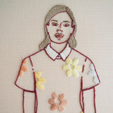 Daisy Dress - Hand embroidered art