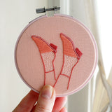 Little Feet - Valentines Day Edition - Hand Embroidered Art