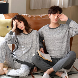 <b>Rainy Day</b><br>cotton long sleeve pajamas set EN2805