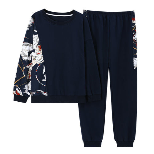 <b>Sailor Vibe</b><br>cotton long sleeve pajamas set for women EN88004
