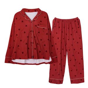 <b>Red Riding Hood</b><br>cotton long sleeve pajamas set with pocket EN5272