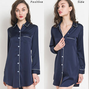 <b>May in Paris</b><br>satin long sleeve nightdress for women EN18101
