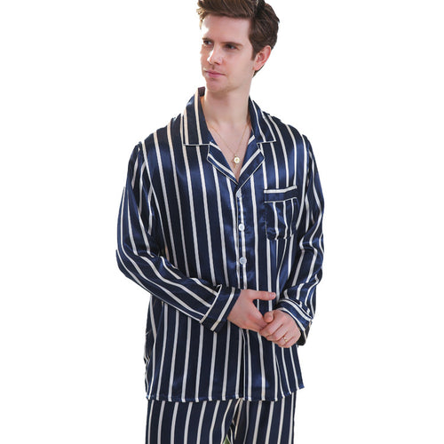 <b>Marseille Beach</b><br>satin long sleeve pajamas set for men EN89011