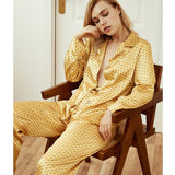 <b>Dot over Dot</b><br>satin pajamas set for women EN2004