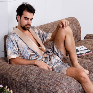 <b>Summer in Dorne</b><br>satin short sleeve robe set for men noble EN88101