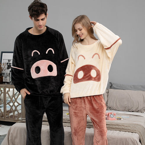 <b>Little Piggy</b><br>warm fleece pajamas EN1008