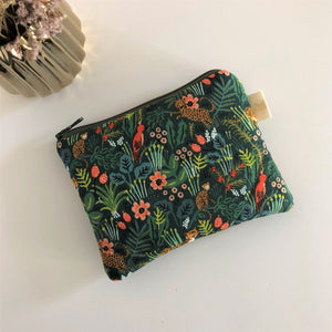 Pochette Mini Pomponnette JUNGLE vert
