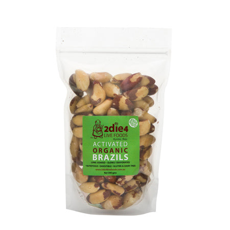 2 DIE 4 LIVE FOODS Activated Brazil Nuts 300g