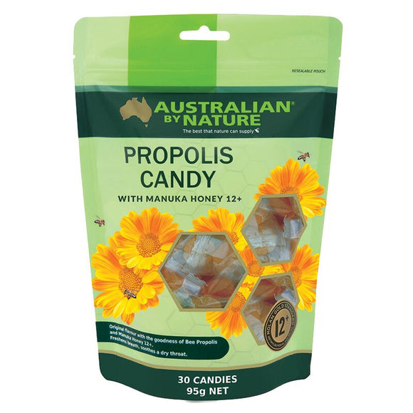 AUSTRALIAN BY NATURE Propolis & Manuka Candy 30s