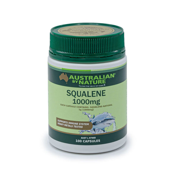 AUSTRALIAN BY NATURE Squalene 1000mg 100c