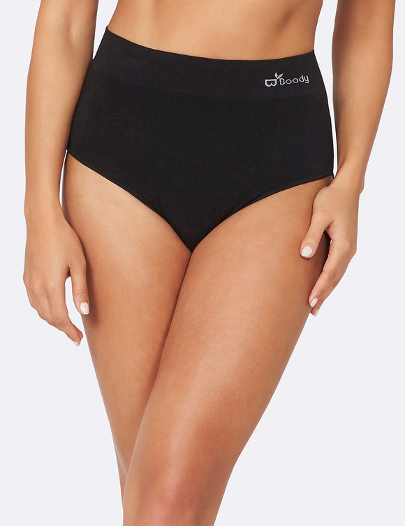 BOODY Bamboo Full Brief Black Medium