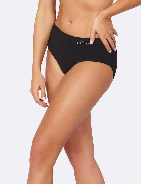BOODY Bamboo Midi Brief Black XL
