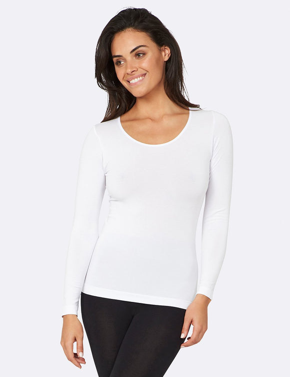 BOODY Long Sleeve Top White M