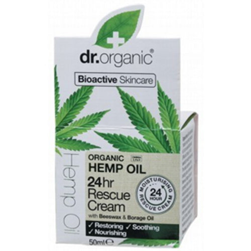DR ORGANIC Hemp Oil 24hr Rescue Cream 50ml