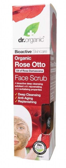 DR ORGANIC Rose Otto Face Scrub 125ml