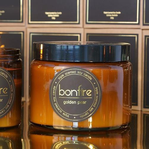 Bonfire Candle Co 450g Golden Pear Christmas Candle