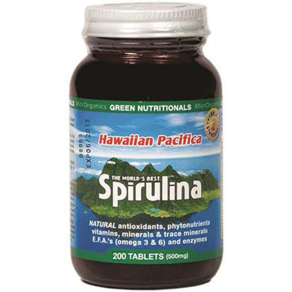 GREEN NUTRITIONALS Spirulina Hawaiian Pacifica 200t