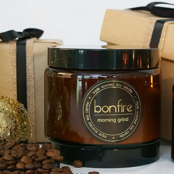 Bonfire Candle Co Morning Grind 450g Soy Christmas Candle