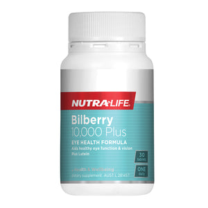 NUTRA LIFE Bilberry 10000 + Lutein 30t