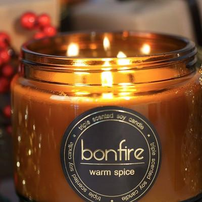 Bonfire Candle Co 450g Warm Spice Christmas Candle