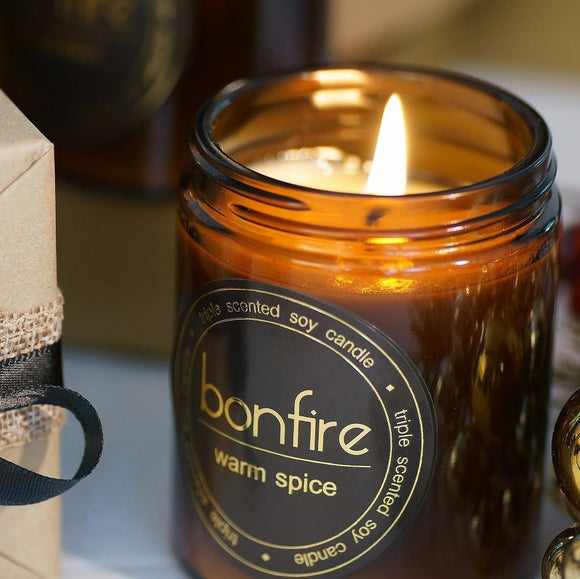 Bonfire Candle Co 150g Warm Spice Soy Scented Candle