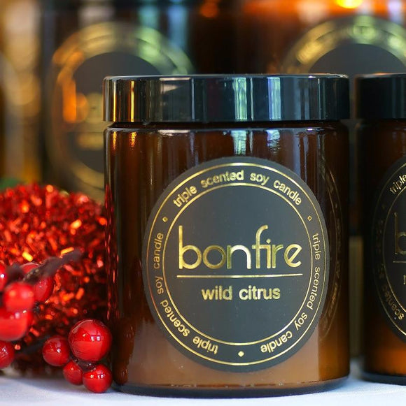 Bonfire Candle Co Wild Citrus 150g Soy Christmas Candle