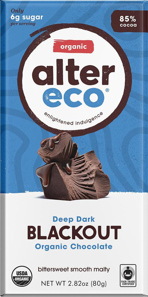 ALTER ECO Organic Choc Dark Blackout 80g