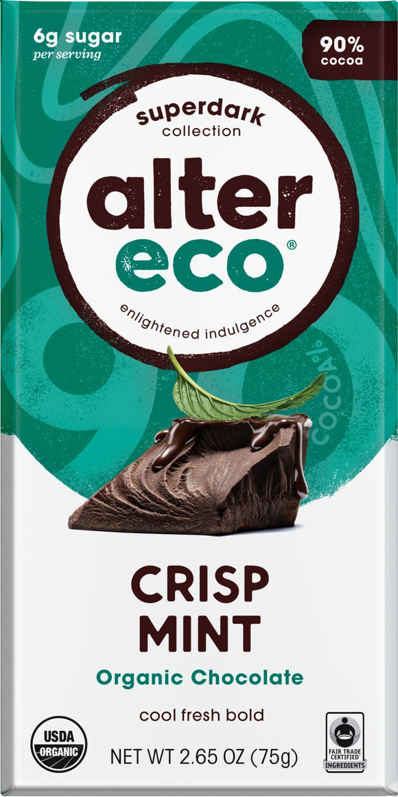 ALTER ECO Organic Choc Dark Mint 80g