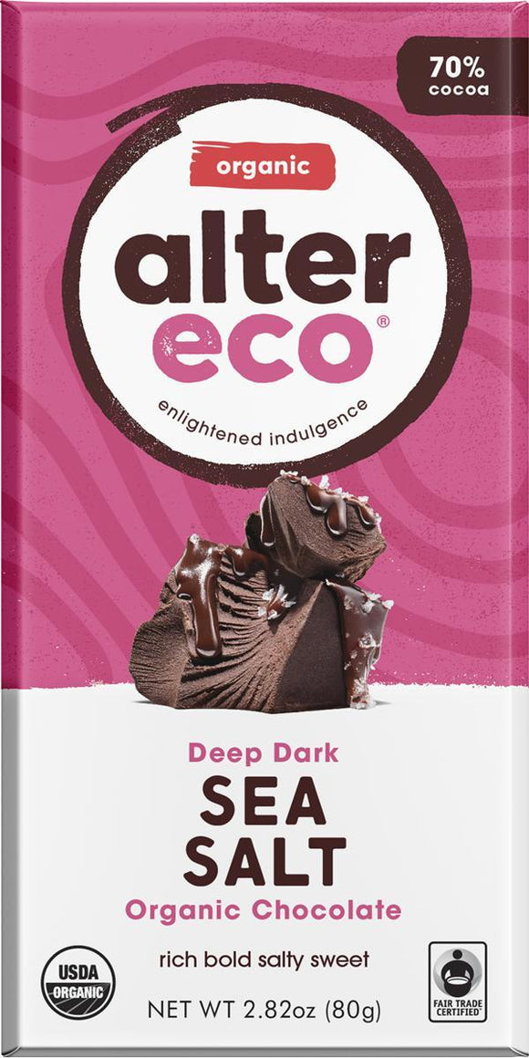 ALTER ECO Organic Choc Deep Dark Sea Salt